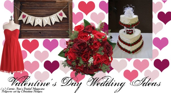 Valentine's Day Wedding Ideas, Christina Hedges, Editor in Chief, Carrie Ann's Bridal Magazine, L'Affaire Events, Valentines Day, Wedding Theme, Valentine